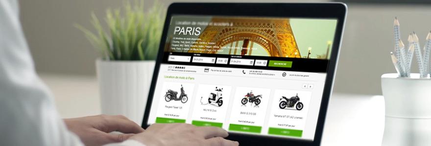 Location en ligne de scooters et de motos sur Paris